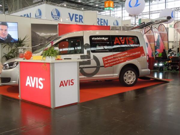 AVIS Autovermietung für Menschen mit Handicap Messestand Rehacare