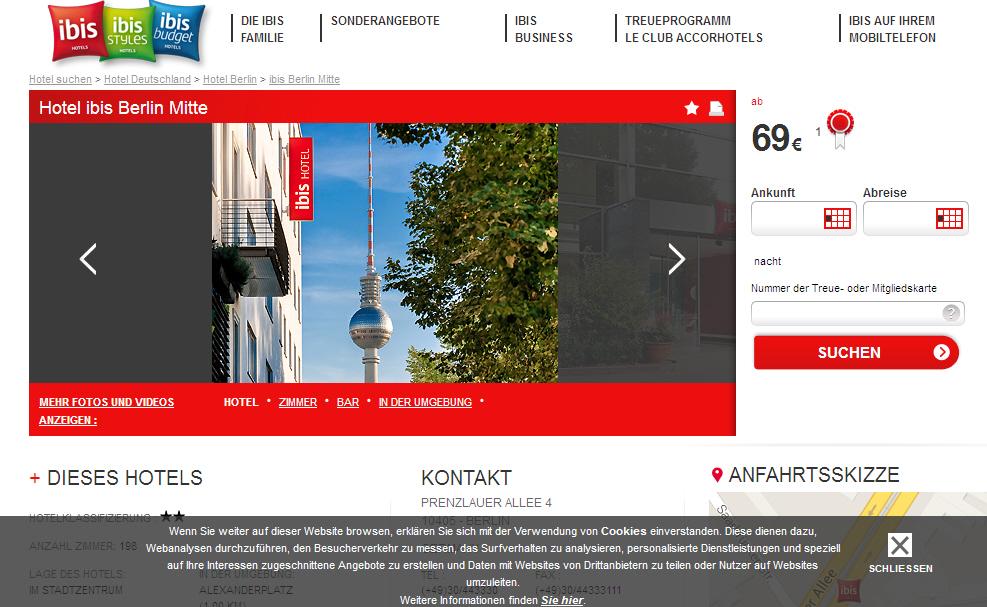 rollstuhl hotel ibis berlin mitte barrierefrei behindert barrierefrei e v. Black Bedroom Furniture Sets. Home Design Ideas