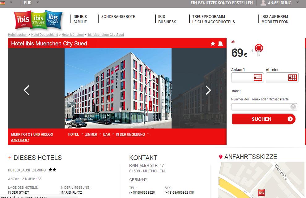 Ibis Hotel City S Ef Bf Bdd M Ef Bf Bdnchen