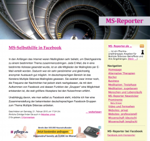 MS-Selbsthilfe Reporter behindert barrierefrei