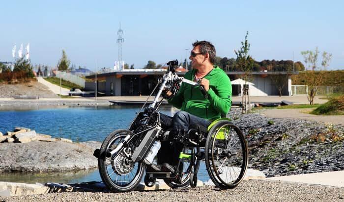 Pro Active Vorspannbike Test Event Kitzbühel behindert barrierefrei