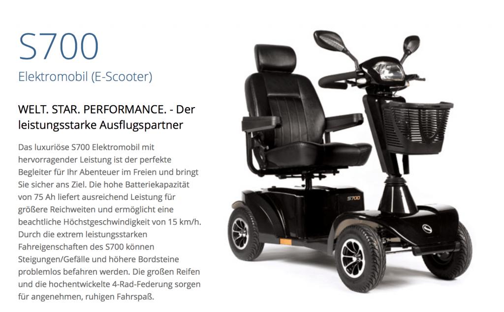 S700 Elektro Scooter Probefahren Gelände Sopur Rollstuhl Sunrise Medical Kitzbühel Österreich Event 2015
