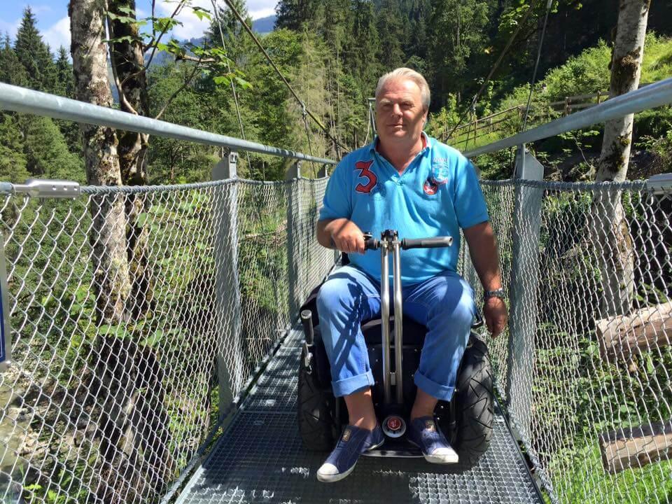 Willi Lang Rollstuhl Apache Zugbrücke Kitzbühler Alpen