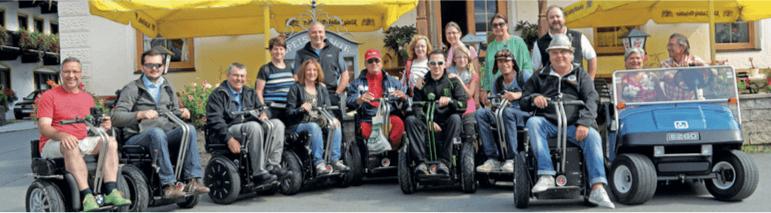 behindert-barrierefrei e.V. 22. Sept. 2015 Rollstuhl Event Kirchberg Tirol