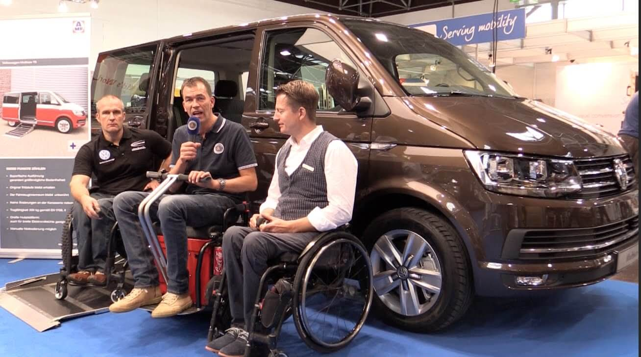 der neue t6 vw multivan bulli oder transporter video von behindert barrierefrei bei vw. Black Bedroom Furniture Sets. Home Design Ideas