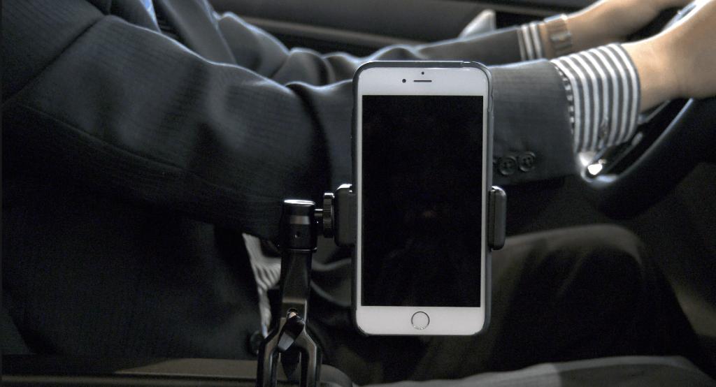 video perfekte rollstuhl universal handy halterung auto. Black Bedroom Furniture Sets. Home Design Ideas