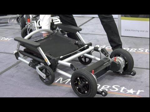 video leichtester faltbarer elektro rollstuhl e scooter. Black Bedroom Furniture Sets. Home Design Ideas