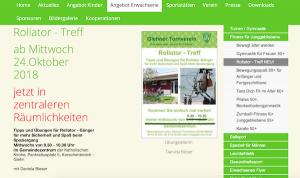 Rollator - Treff ab Mittwoch 24.Oktober 2018 in Korschenbroich @ im Gemeindezentrum der Katholischen Kirche,  | Korschenbroich | Nordrhein-Westfalen | Deutschland